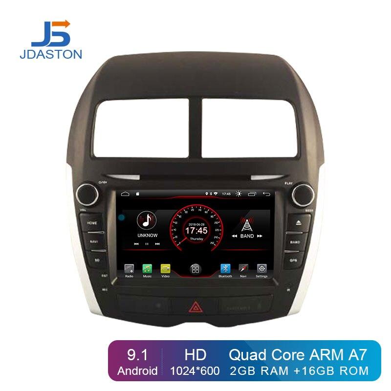 JDASTON Android 9.1 Car DVD Player For Mitsubishi ASX 2011 2015 Peugeot 4008 Citroen C4 Multimedia GPS 2 Din Car Radio Stereo