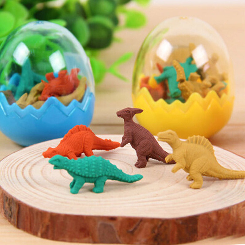 Dinosaur Eraser Cute Mini Dinosaur Stationery Eraser For Kids As School Gifts 3-pack Fashionable Patterns Office & School Supplies
