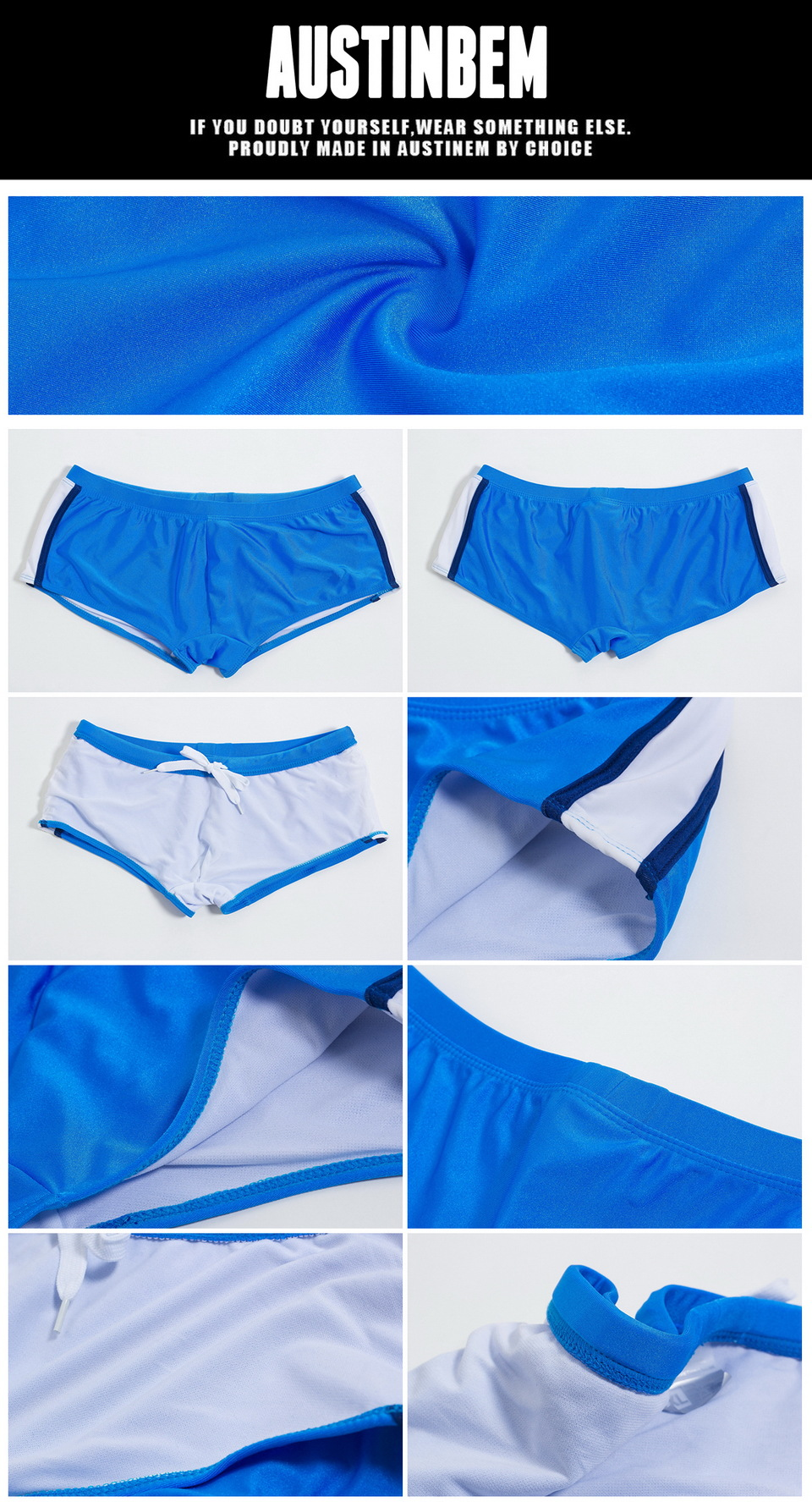 Topdudes.com - Athletic Male's De Bain Homme Zwembroek Heren Solid Color Swim Trunks