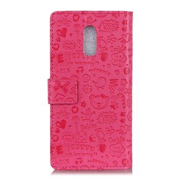 buy popular 0a910 c6b2b Phone Case for OnePlus 7 Pro 6T Leather 3D Magic Girl Cartoon Flip