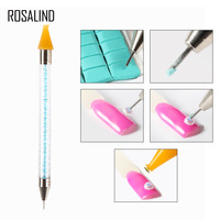 ROSALIND Nail Art Tools For Gel Varnish Dual-ended wax pen nail art pencil for crystals diamond dots For Manicure Care Tools