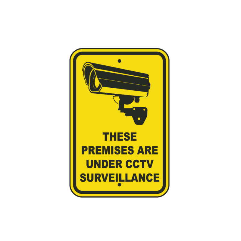 CCTV Security Camera Sticker No Cash Left on these premises Monitored By cctv