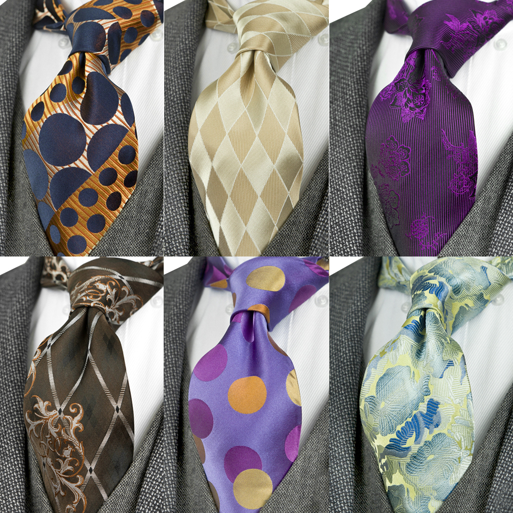 Classy Paisley Floral Checked Stripes Dots Multicolor Mens Tie Neckties 100% Silk Jacquard Woven Free Shipping Suit Gift For Men