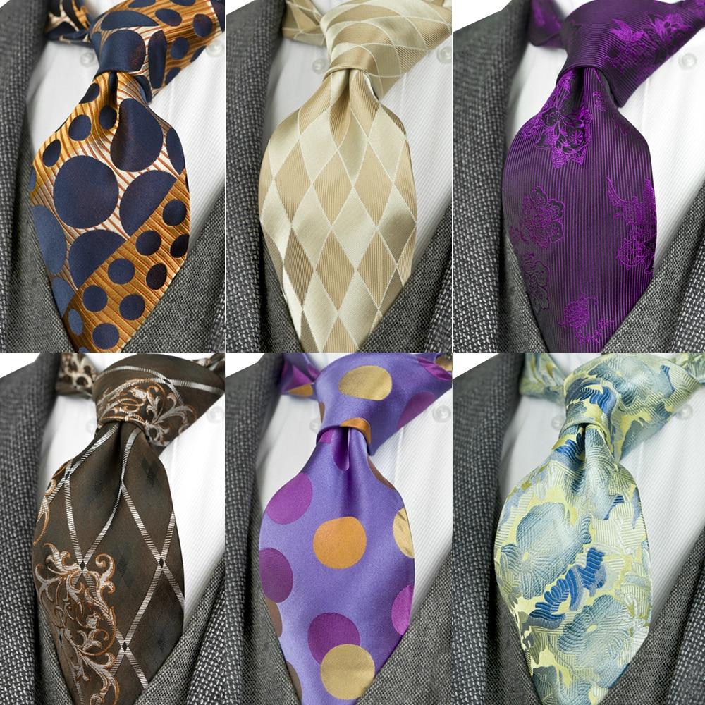 Elegante Paisley Floral Verificado Listras Pontos Multicolor Laço Dos Homens Gravatas 100% Seda Tecido Jacquard Frete Grátis Presente Terno Para Os Homens