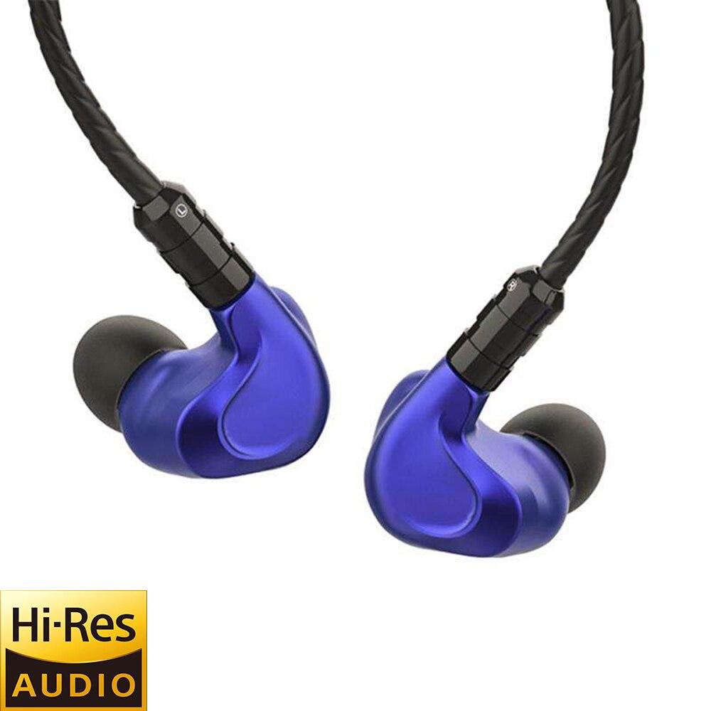 BGVP DMG 2DD + 4BA híbrido de los conductores en la oreja los auriculares de alta fidelidad de alto Monitor desmontable con MMCX Cable de Audio y tres las boquillas