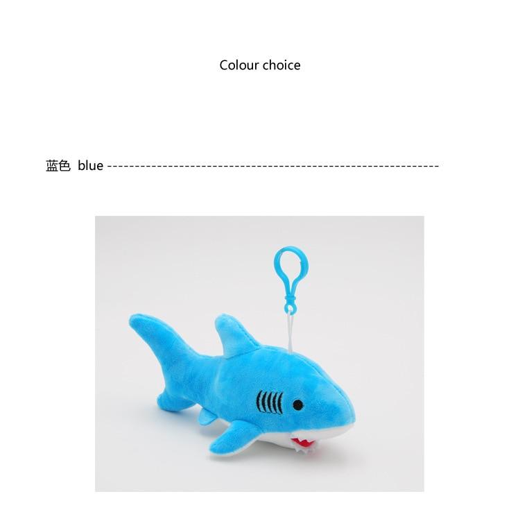 """Happy Shark"" Cute Plush Shark (Random Color blue / grey / pink) 4"