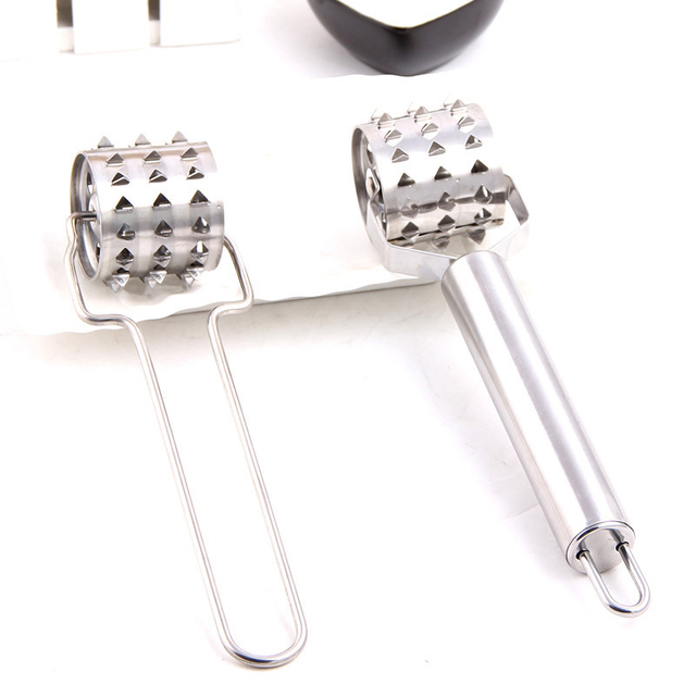 1 piece stainless steel rolling tender meat hammer