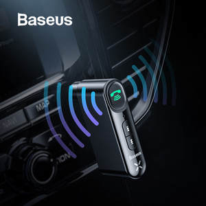 Baseus Car Aux Bluetooth Adapter Wireless 3.5mm Audio Receiver for Auto Bluetooth Handsfree Car Kit Speaker Headphone