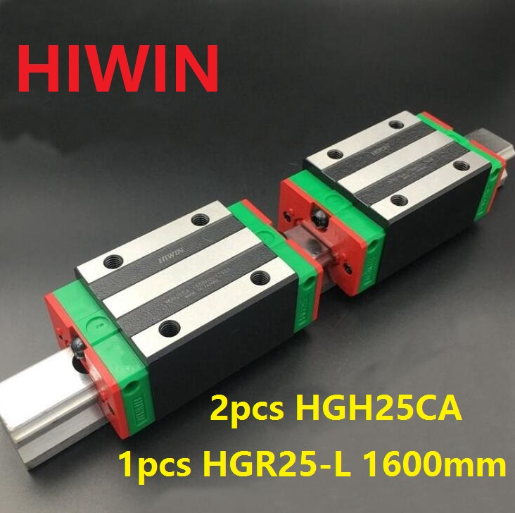 1pcs 100% original Hiwin linear guide linear rail HGR25 -L 1600mm + 2pcs HGH25CA linear narrow block for cnc router hiwin taiwan made 2pcs hgr25 l 600 mm linear guide rail with 4pcs hgh25ca or hgw25ca narrow sliding block cnc part