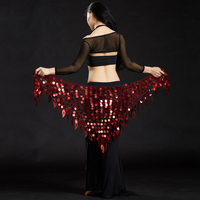 New 11 Colors Belly Dance Clothing Mermaid Stretchy Long Tassel Triangle Belt Hand Crochet Belly Dance