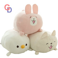 60cm piske Cat plush japanese Comics toy usagi pink rabbit bunny white chick cute toys for baby girl birthday toys