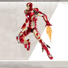 1/12 Scale Super Flexible Iron Man MK43 Action Figure the Avengers Collectible Model Toys Christmas for Boys Children
