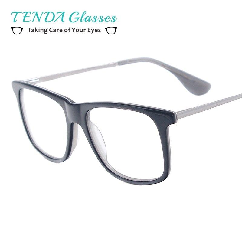 Pequeno Quadrado Moda de Acetato de Aro Completo Óculos de Armação Homens  Óculos de Aulas Para bbb136244d