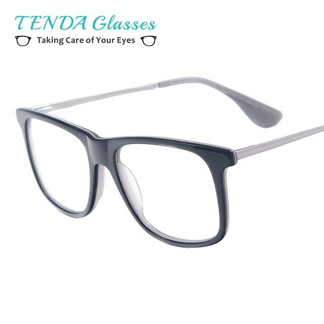 Small Full Rim Acetate Square Fashion Glasses Frame Classes Men ...