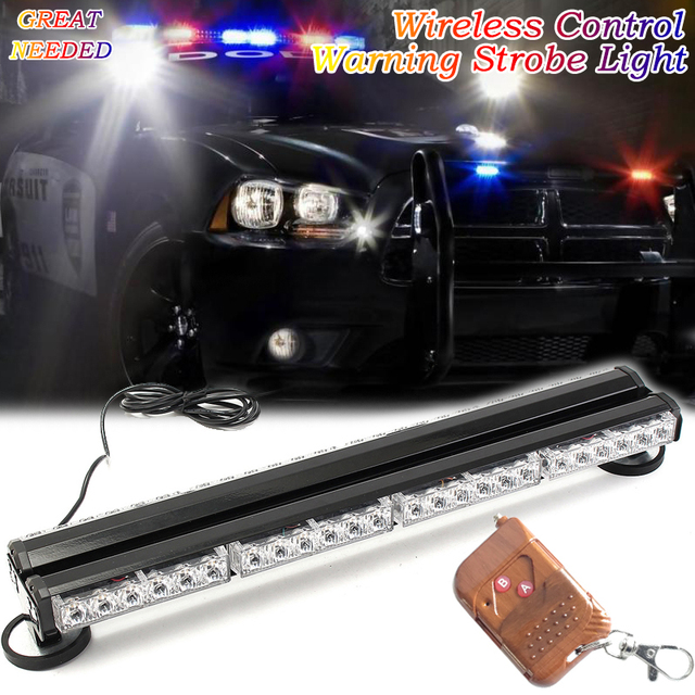 Vehicle Strobe Lights >> Us 89 51 22 Off 24 Wireless Control Emergency Vehicle Strobe Lights Forklift Warning Led Light 12v 24v Pickup Trucks Roof Signal Police Lamp In