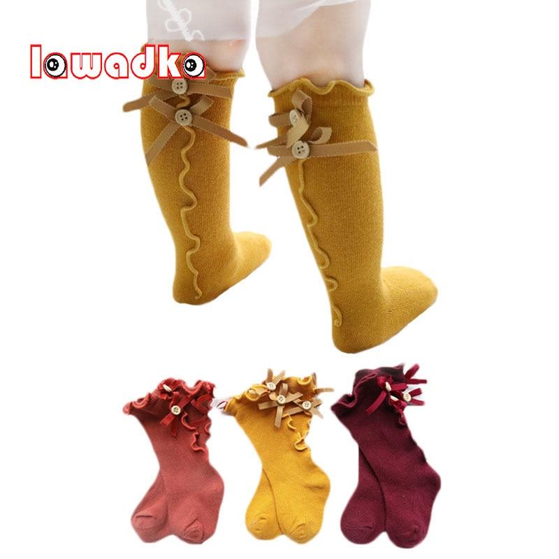 Lawadka Cotton Kid Princess Girls Socks Children's Knee High Socks Beauty Baby Leg Warmers New Born Baby Girl Sock