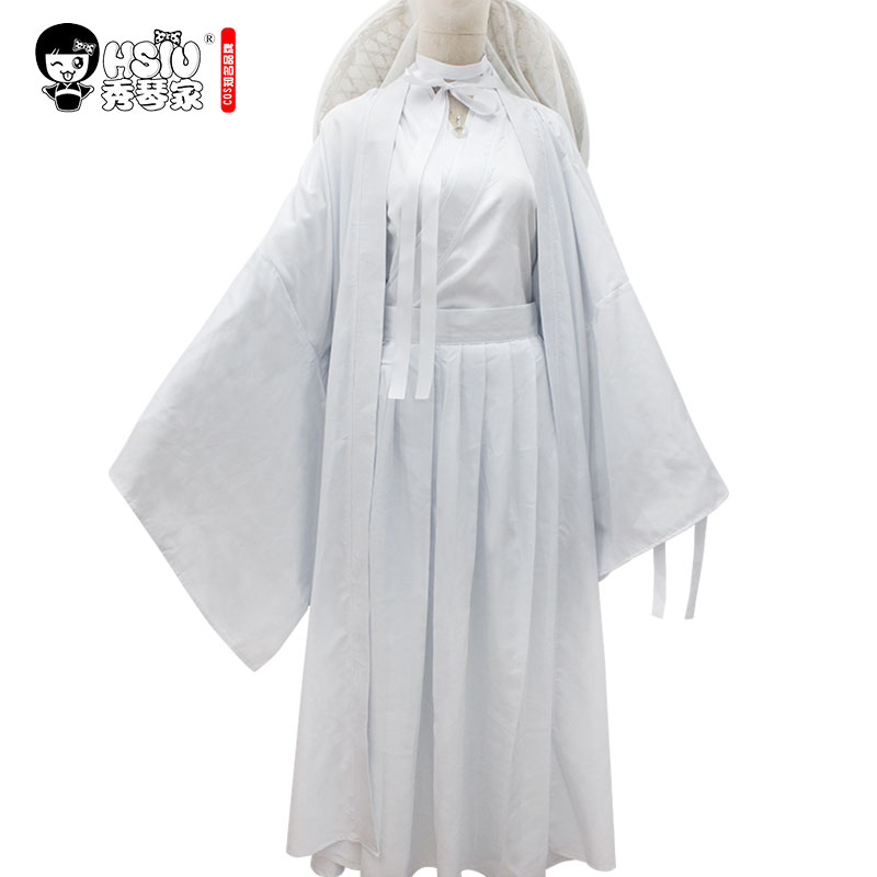 HSIU Xie Lian Cosplay Costume Wigs Tian Guan Ci Fu Cosplay Costume Wigs, Bamboo Hat, Props Accessories And Other Complete Set