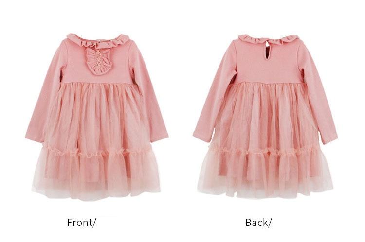 6bf7dc996 ... vestidos de niña pequeña ropa para niños. school mesh patchwork cotton  baby girl 2018 autumn winter Christmas pink teenage kids dresses for girls