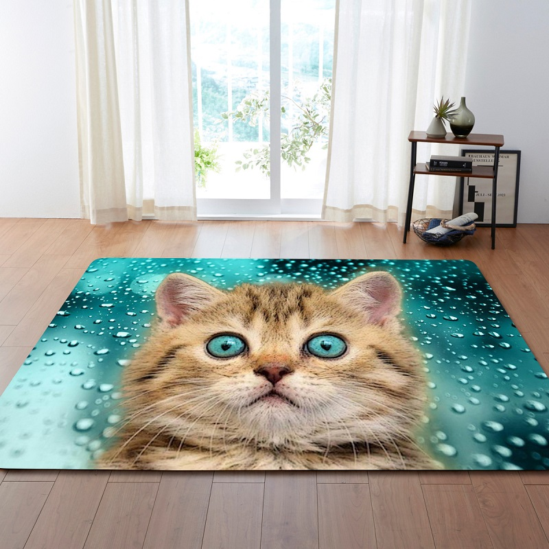 Mignon chat Animal imprimé grand tapis pour salon anti-dérapant canapé Tatami tapis de sol Table chambre tapis tapetes para casa sala