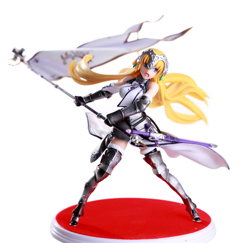 Fate Grand Order FGO Anime Joan of Arc Ruler Waving Flag Boxed 20cm PVC Action Figure Model Doll Toys Gift NO35 fate grand order fate apocrypha anime jack the ripper assassin mordred astolfo joan of arc atalanta semiramis rubber keychain