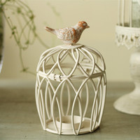 Wrought Iron Cage Candle Holders Wedding Decoration Place Adorn Home Furnishing Articles Ornament