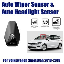 For Volkswagen VW Sportsvan 2016~2019 Car Automatic Rain Wiper Sensors & Headlight Sensor Smart Auto Driving Assistant System