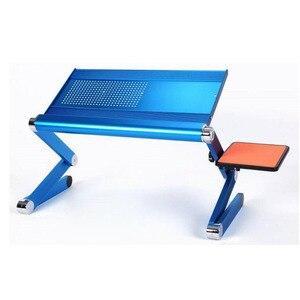 Image 2 - SUFEILE Mode Laptop Schreibtisch 360 Grad Verstellbare Falten Laptop Notebook PC Schreibtisch Tisch BLAU Stehen Tragbare Bett Tablett D5