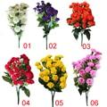 2018 новые искусственные шелковые цветы Гвоздика 30 Цветы с бутонами 6 веток 1 букет мать Сиреневый цветок ремесло для свадьбы дома Вечерние