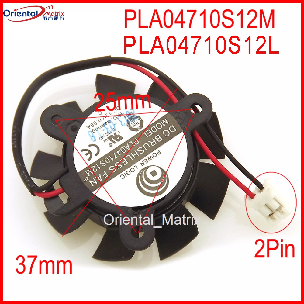 For Power Logic PLA04710S12M computer chassis graphics fan 4CM DC12V 0.09A 2-Pin