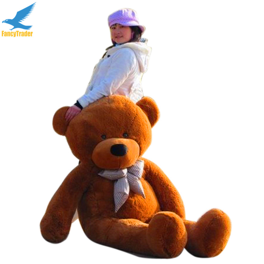 Fancytrader 160cm Dark Brown Giant Stuffed Bear Plush Toy 4 Colors 63'' Great Birthday Gift FT90059 fancytrader new style teddt bear toy 51 130cm big giant stuffed plush cute teddy bear valentine s day gift 4 colors ft90548