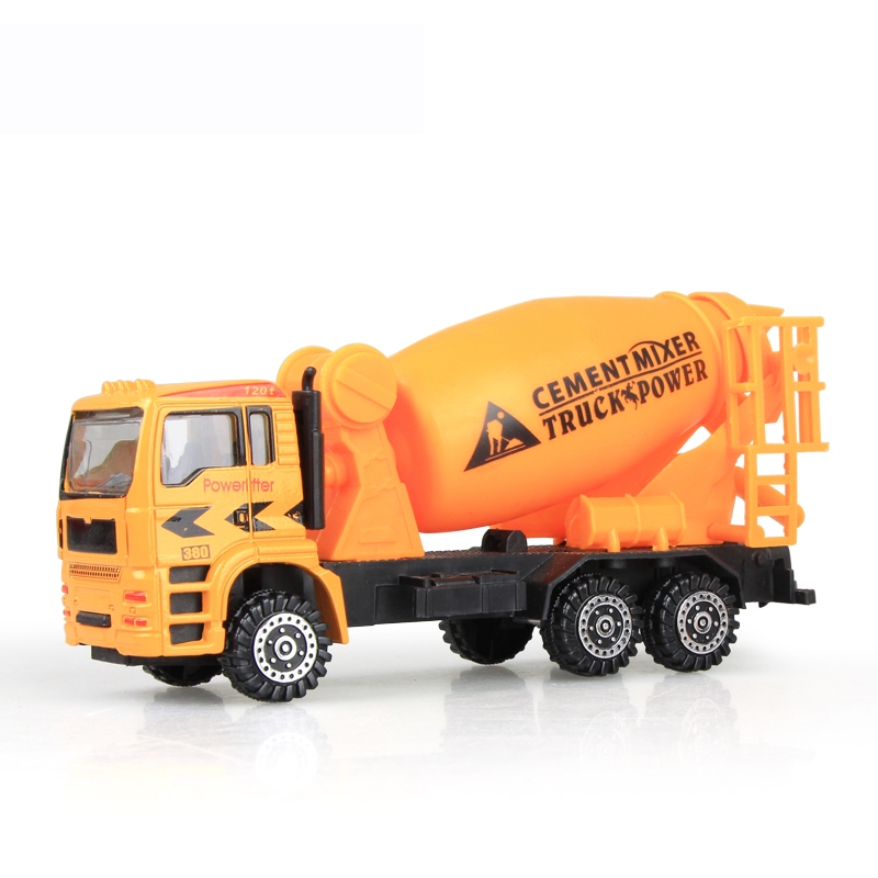 4 Pcs Engineering Construction Vehicle Concrete Mixing Dumping Truck Oil Tank Model Classic Toys for Boys Gift