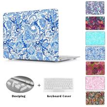Ethnic origin wind design flower print sleeve Case for Macbook Pro 13.3 15.4 Pro Retina 12 13 15 inch Macbook Air 11 13 shell