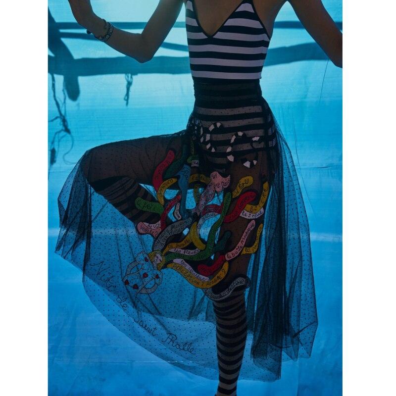 Сексуальный женский сиамский корсет ретро полосатый комбинезон облегающий приталенный