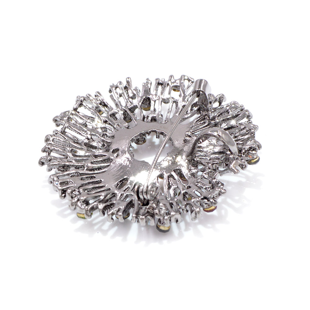 CINDY XIANG New Arrival Colorful Flower Brooches for Women Vintage Round Coat Brooch Pin Sweater Accessories High Quality Gift 6