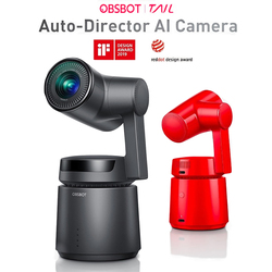 OBSBOT Tail Auto Director Handheld 3 Axis Intelligent Auto-Director Ai Camera 4K Video AI Tracking Shooting 360 4k 60fps Camera