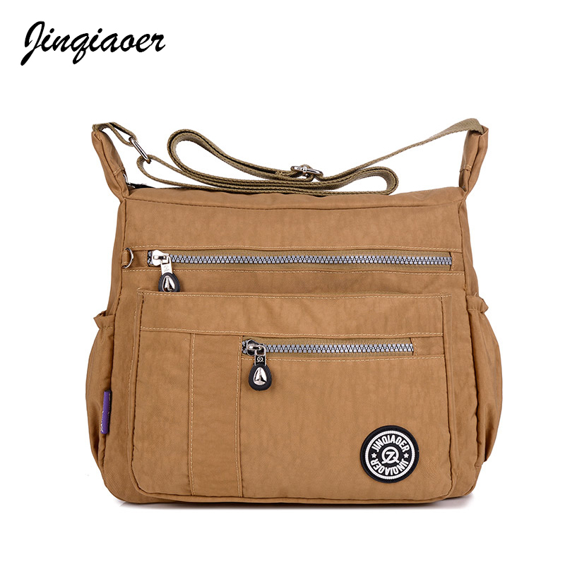 New Women Messenger Bags for Women Waterproof Nylon Handbag Female Shoulder Bag Ladies Crossbody Bags bolsa sac a main JQ003/q 2017 new clutch steam punk female satchel handbag gothic women messenger bags shoulder bag bolsa shoulder bags tote bag clutches