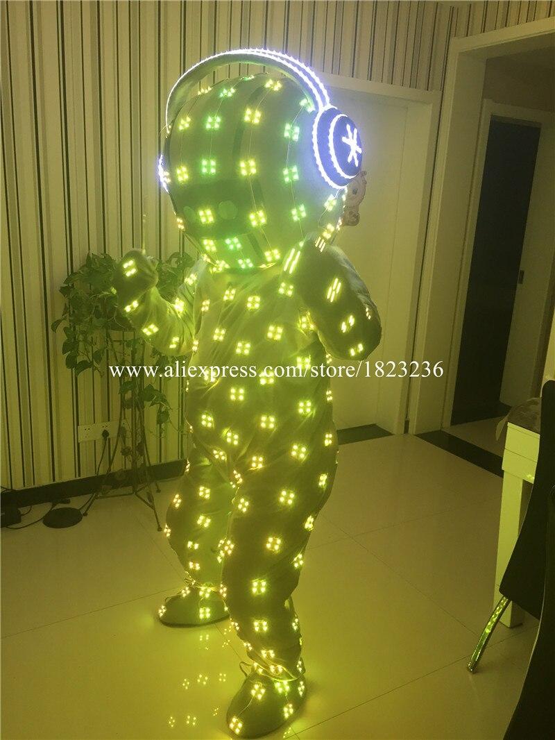 Volle Farben LED blinkend leuchtend leuchten Kostüm Kleidung - Partyartikel und Dekoration - Foto 5