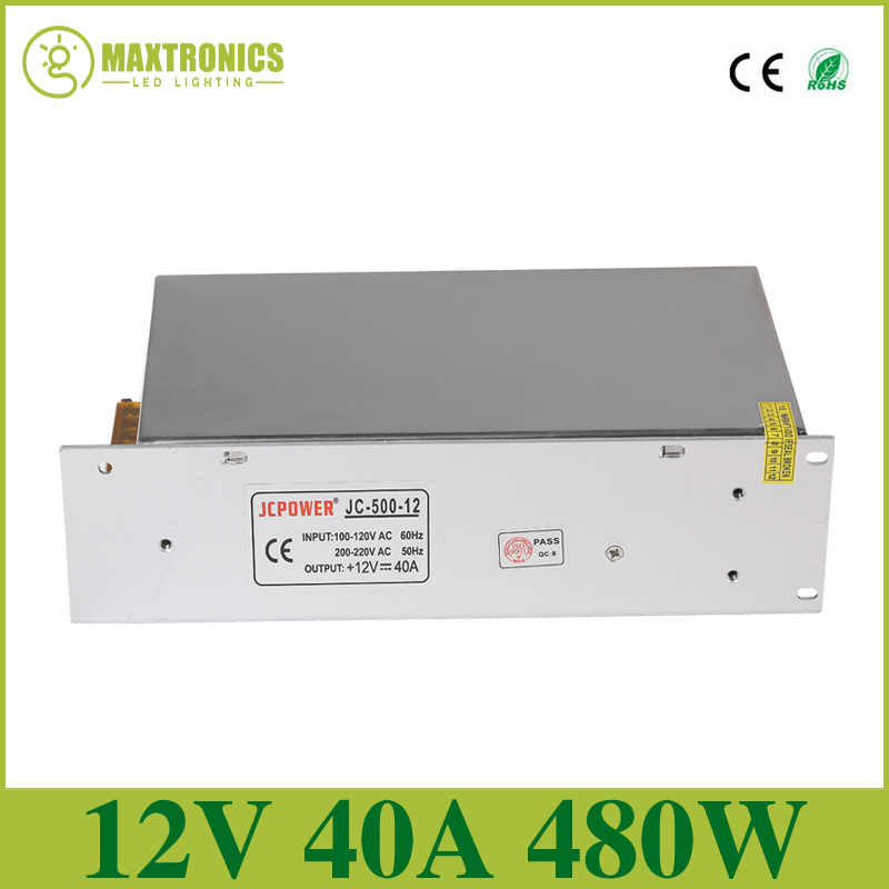 12V 40A 480W Universal Regulated Switching Power Supply,AC110/240V for CCTV PSU Lighting Transformers transformers маска bumblebee c1331
