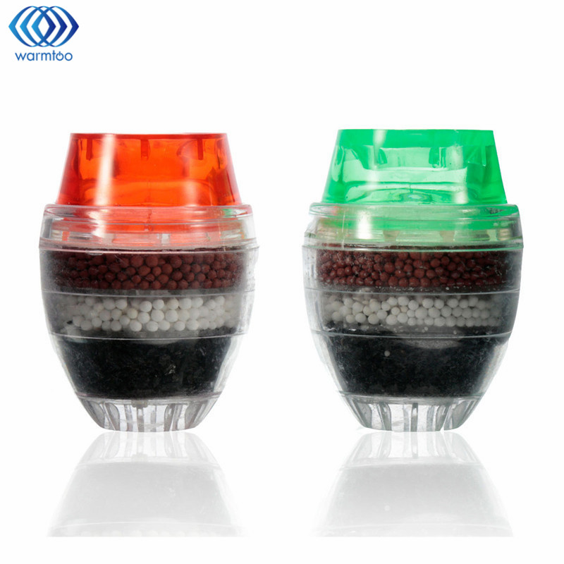 Kitchen 2Pcs Water Filter Tap Carbon Home Mini Water Clean Purifier Faucet Filtration Cartridge 21-23mm Household