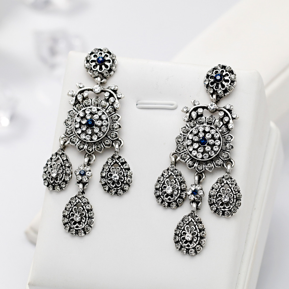 Geometric Retro Luxurious Zircon Teardrop drop earrings jewelery Zircon earring oorbellen pendientes boucle doreille brinco A1