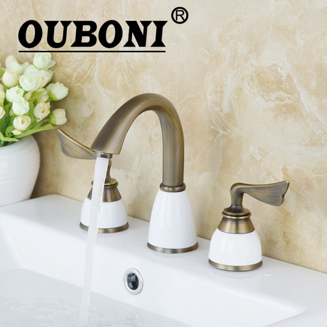Aliexpress.com : Buy OUBONI Antique Brass Bathtub Faucet Bathroom ...