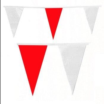 80 M 200 Flag biały czerwony jedwab flaga proporczyk Banner ślub/urodziny strona dekoracji Event Party Supplies White Party flagi