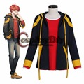 Hot Game Mystic Messenger 707 Top Cosplay Costume Adult Halloween Costumes T shirt Jacket Custom Made J10
