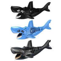 Bausteine 3D Shark Montiert Spielzeug Ghost Zombie Shark Jack Sparrow Fluch Der Karibik Hulk Legoings Spielzeug Für Kind
