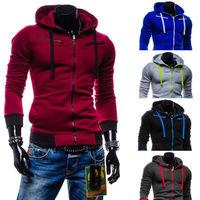 Winter Warm New Men S Plain Hoodie Zip Up Hoody Long Sleeve Pockets Jacket Sweatshirt Zipper