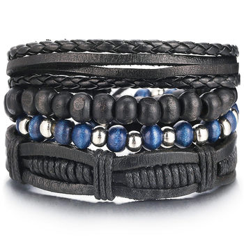 Vintage Multilayer Leather Bracelet for Men Bracelets Jewelry Men Jewelry New Arrivals Metal Color: FDY990