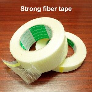 Image 3 - 50m 유리 섬유 테이프 투명 배터리 팩 메쉬 섬유 테이프 항공기 모델 고정 강력한 단면 스트립 테이프 반투명