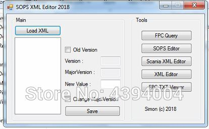 SOPS XML Editor New 2018 work with new sdp3 program