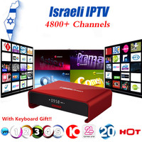Israele Ebraico Mondo 4800 + Canali IPTV Box T95U PRO Android 6.0 TV Box S912 Octa-core cortex-A53 Mali-T820MP3 2G16G Set Top Box