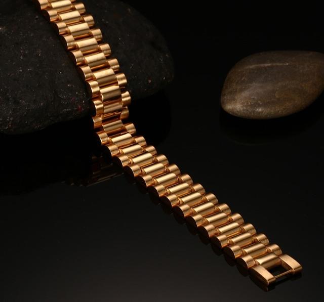 Men's Stainless Steel Bracelet in Gold Tone
